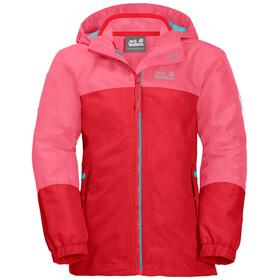 Jack Wolfskin Iceland 3in1 Jacke Mädchen coral pink